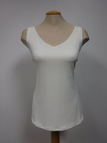 FRANK LYMAN V-NECK CAMI, OFF WHITE