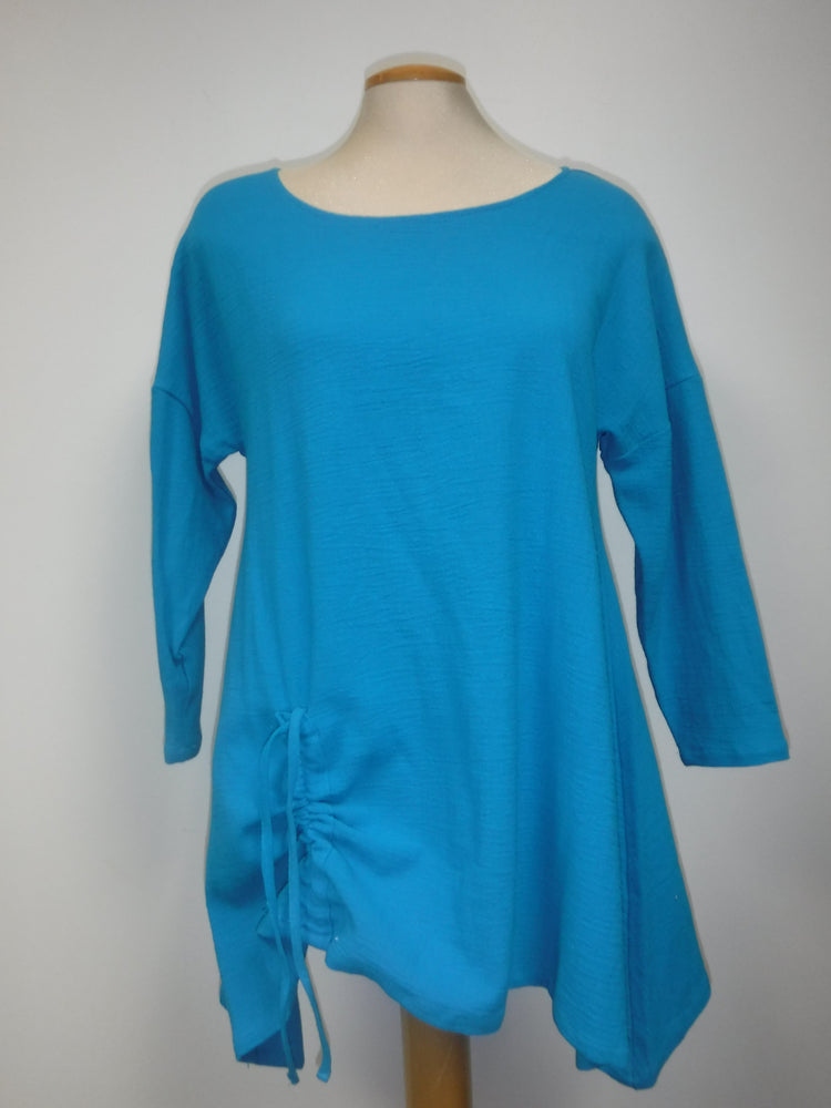 Pretty Woman Scoop Neck Dress, Turquoise