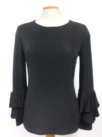 Frank Lyman Black Glitter Top