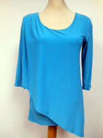 Pretty Woman 600 layered tunic, turq