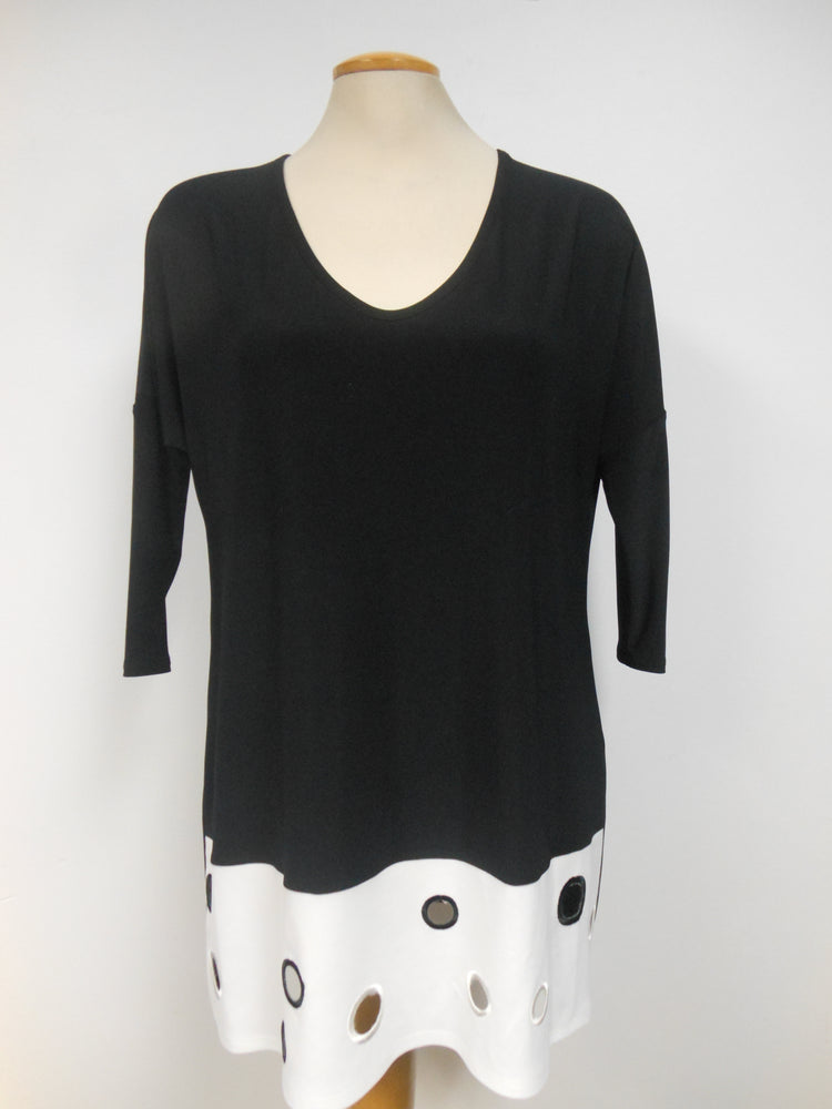 Joseph Ribkoff Black White Tunic, only one left, size 12