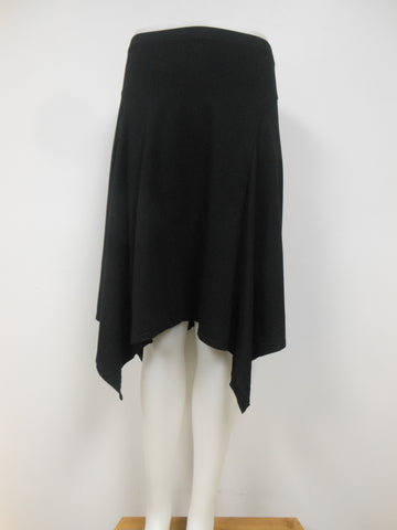 COTTON BLEND BLACK HANDKERCHIEF SKIRT