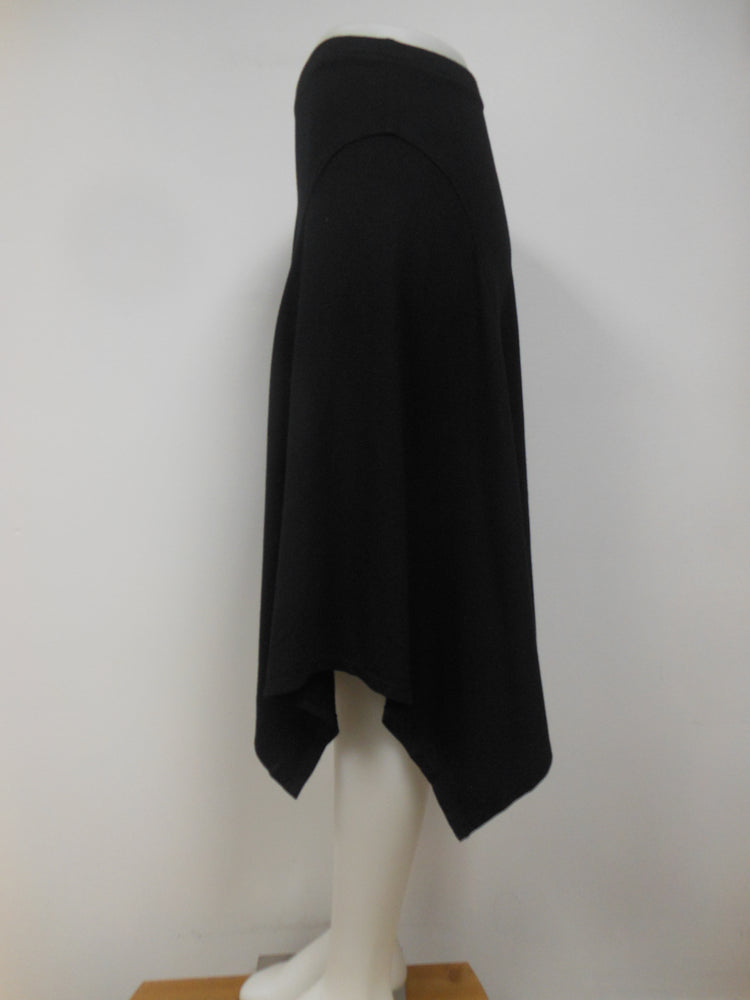 Cotton Blend Black Handkerchief Skirt  - size XS only