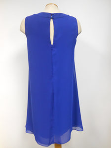 Frank Lyman Sapphire Blue Chiffon Dress - one left only, size 4