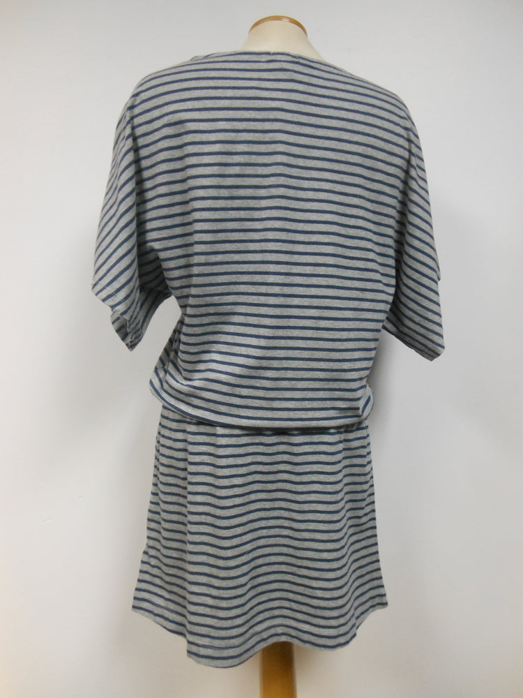 Cotton Striped Bungalow Dress - large only