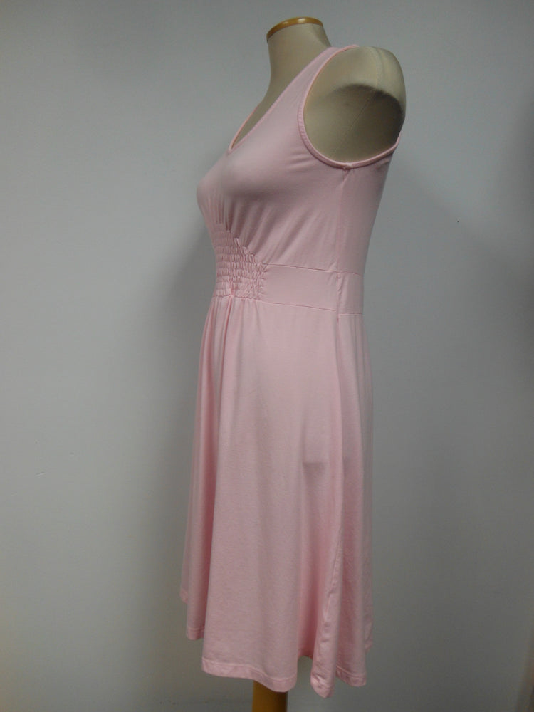 Cotton Blend Pink Smocked Tank Dress -  size Small