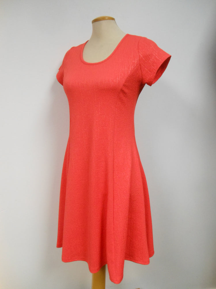 Coral Cap Sleeve Dress