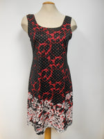 Luc Fontaine Black Coral Lace Dress,  One left, Size  14