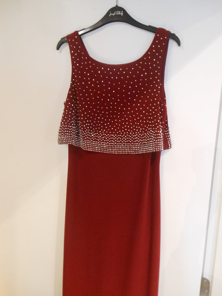 Joseph Ribkoff Studded Maxi Dress, Wine