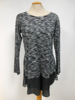 Joseph Ribkoff Black White Lace Tunic