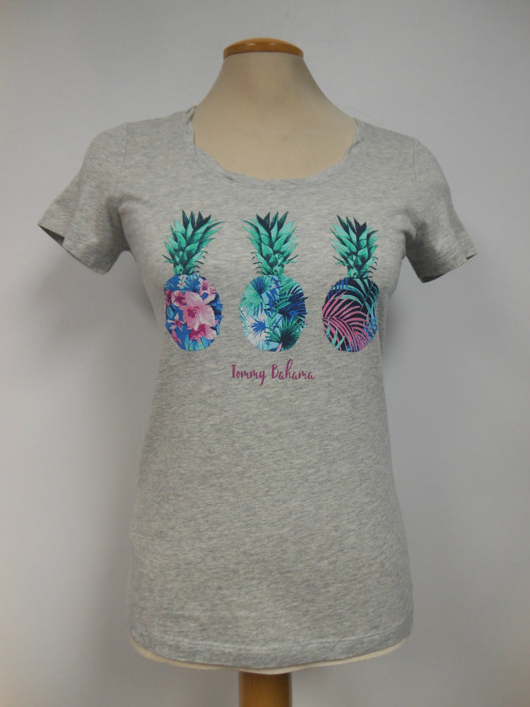 Tommy Bahama Cotton Blend Grey Pineapple T-Shirt