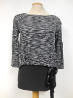 Joseph Ribkoff Black White Layered Tunic