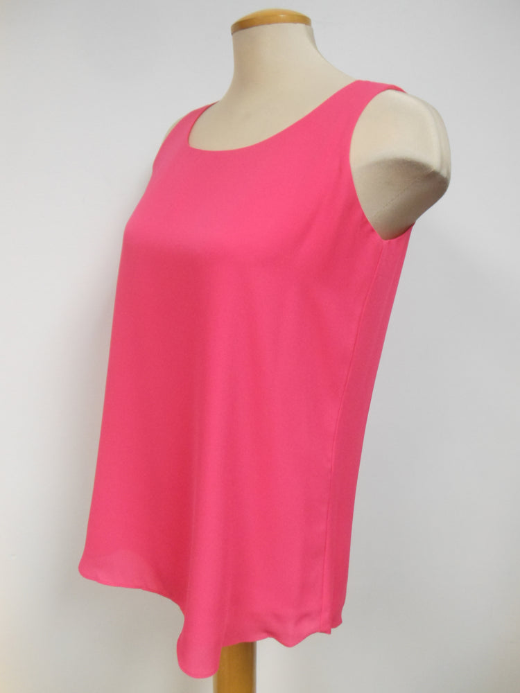 Pink Chiffon Tank Top    Size S only