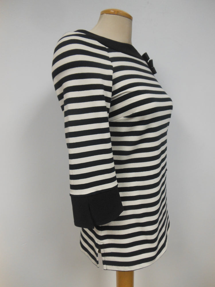 Frank Lyman Striped Boat Neck top