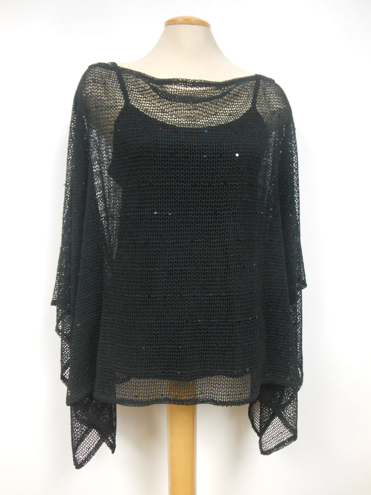 Pretty Woman Black Fishnet Cover Up