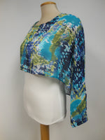 Pretty Woman Chiffon Cover Up in Teals and Green