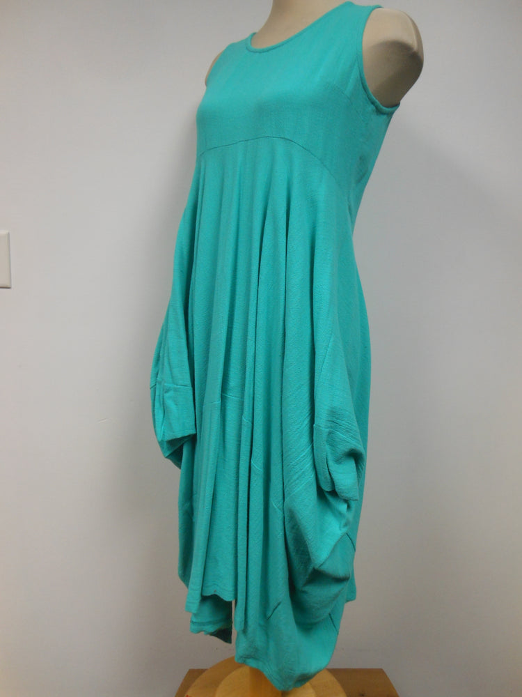 Pretty Woman Cotton Dress Seafoam - size M