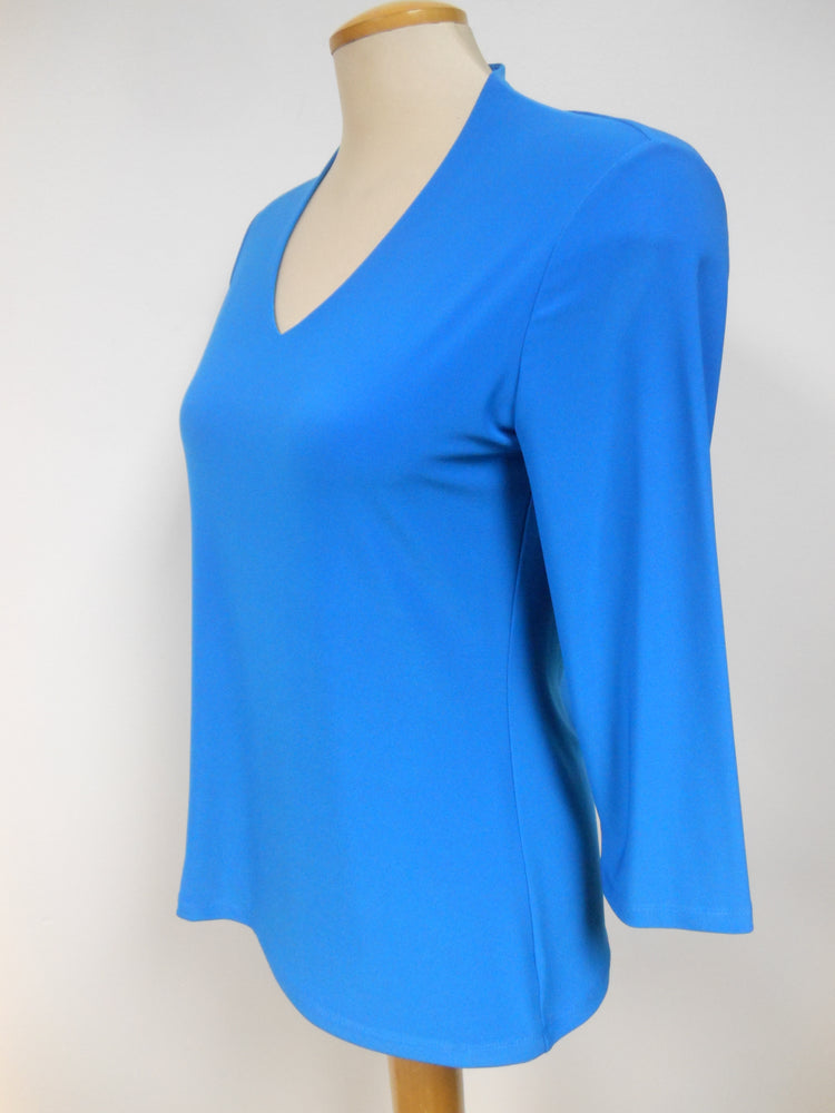 Ocean Blue V-neck Top