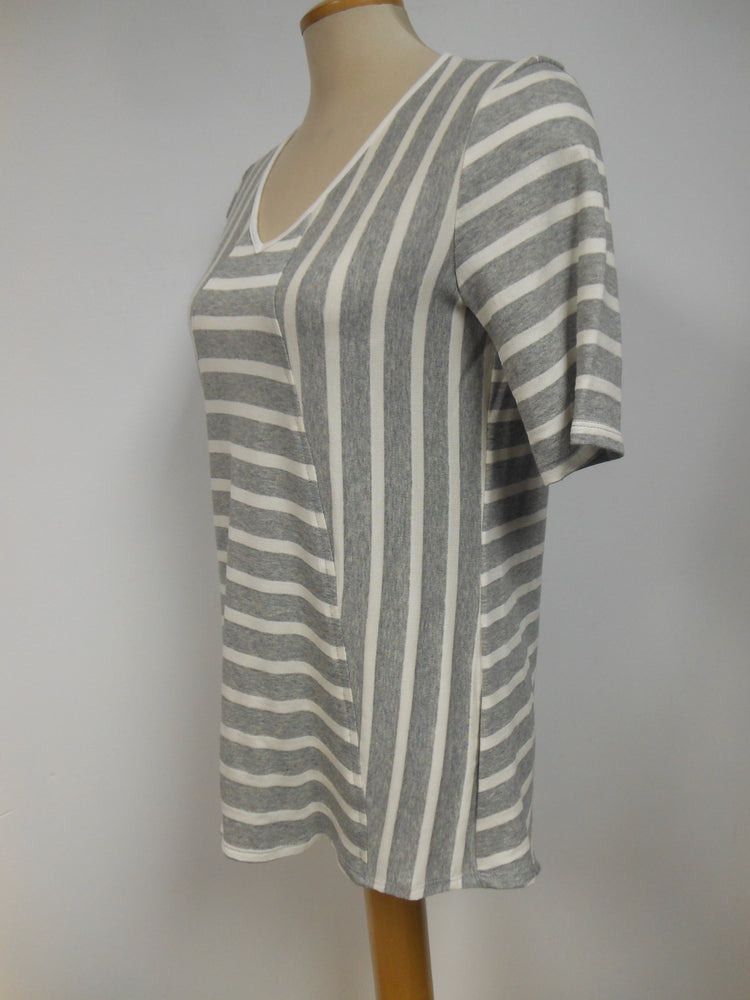 Grey Cream Striped Tunic