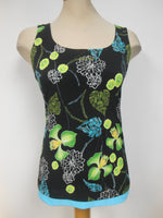 Frank Lyman Black Lime, Turquoise Reversible Tank Top