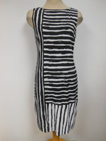 Frank Lyman Black White Striped Dress