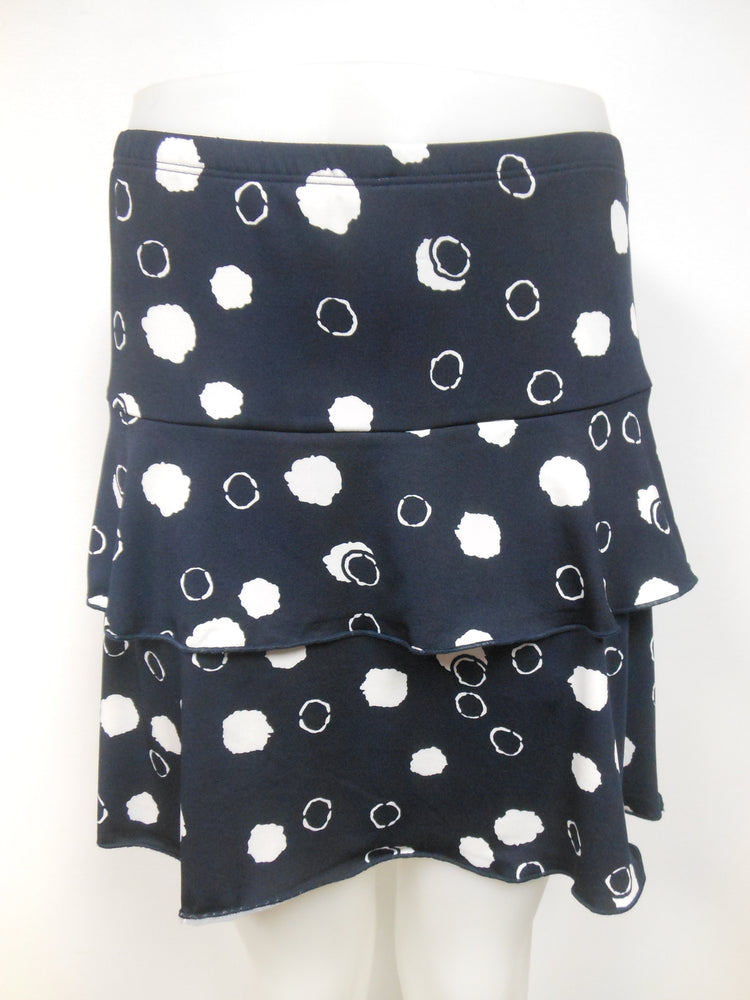 Ruffle Skort Navy with Polka Dots   Size S only