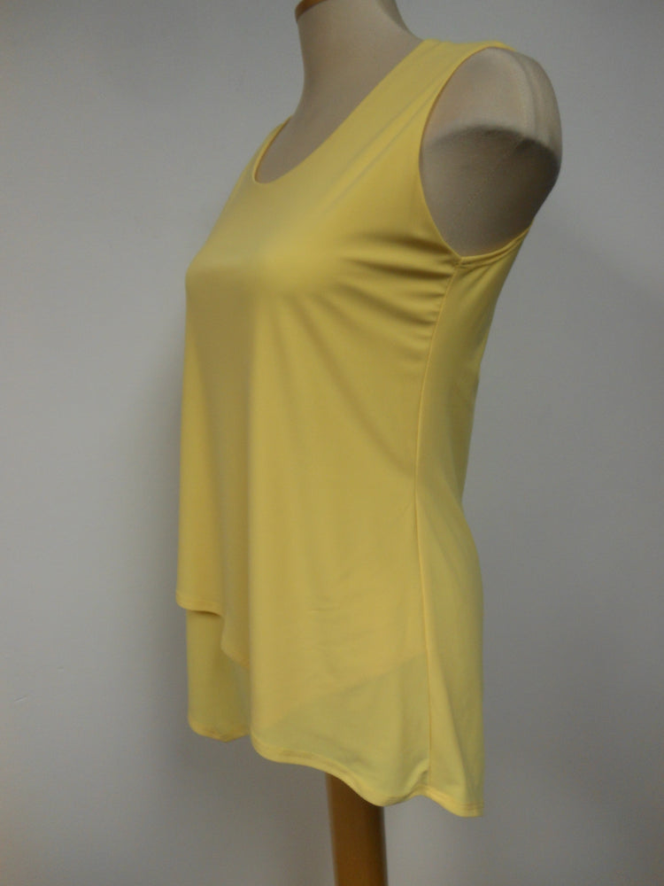 Yellow Cross Over Tank Top