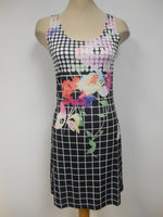 Black Floral Shift Dress   Size XS only