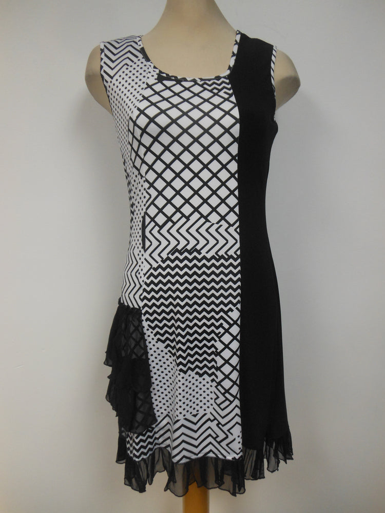 Black White Block Print Dress