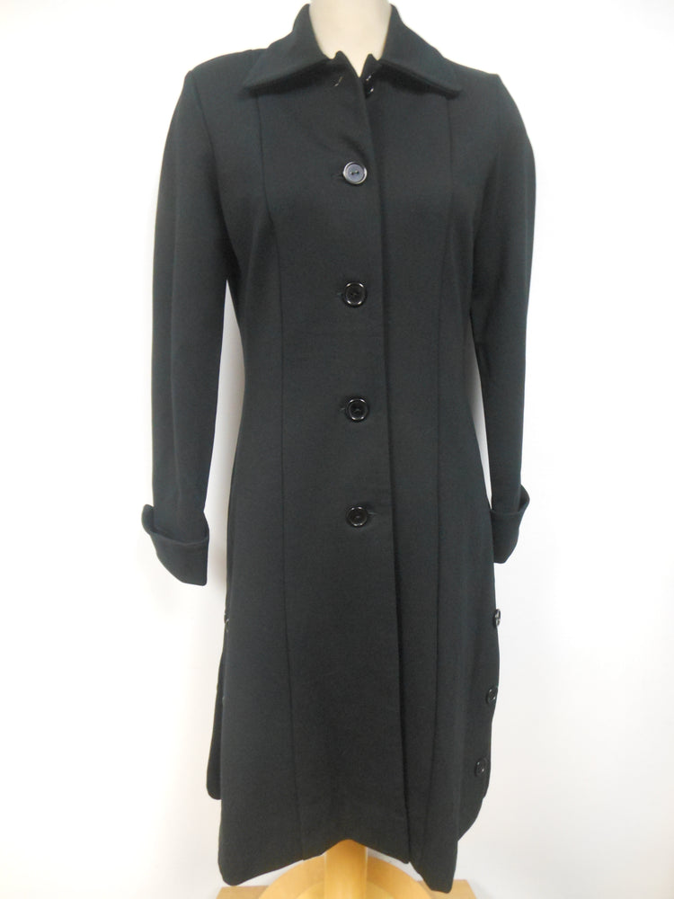 Joseph Ribkoff Black Button Coat - size 8 only