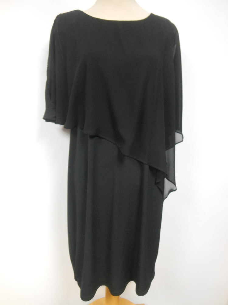 Pretty Woman Layered Cape Dress Black
