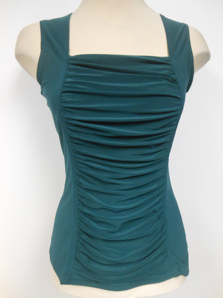 Hunter Green Ruched Tank Top