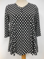 Pretty Woman Black White Polka Dot Tunic