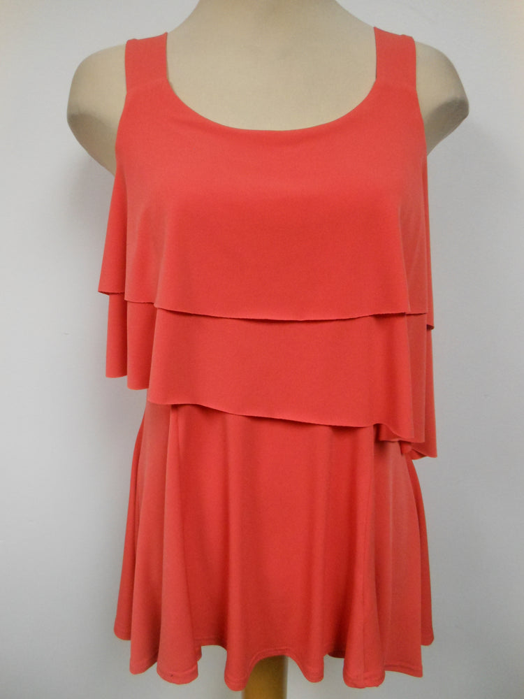 Pretty Woman Layered Top, Tangerine