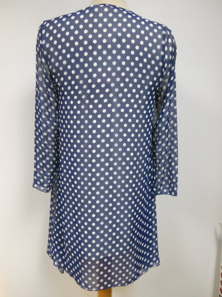 Pretty Woman Sheer Blue Polka Dot Cover Up