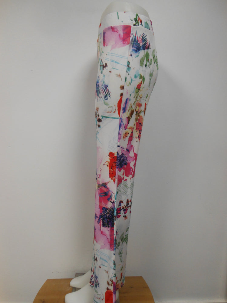 Pretty Woman Wide Trouser, White Floral