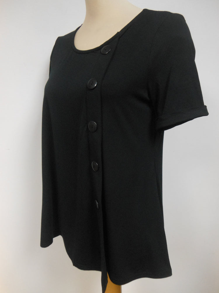 Pretty Woman Bamboo Black Button Top
