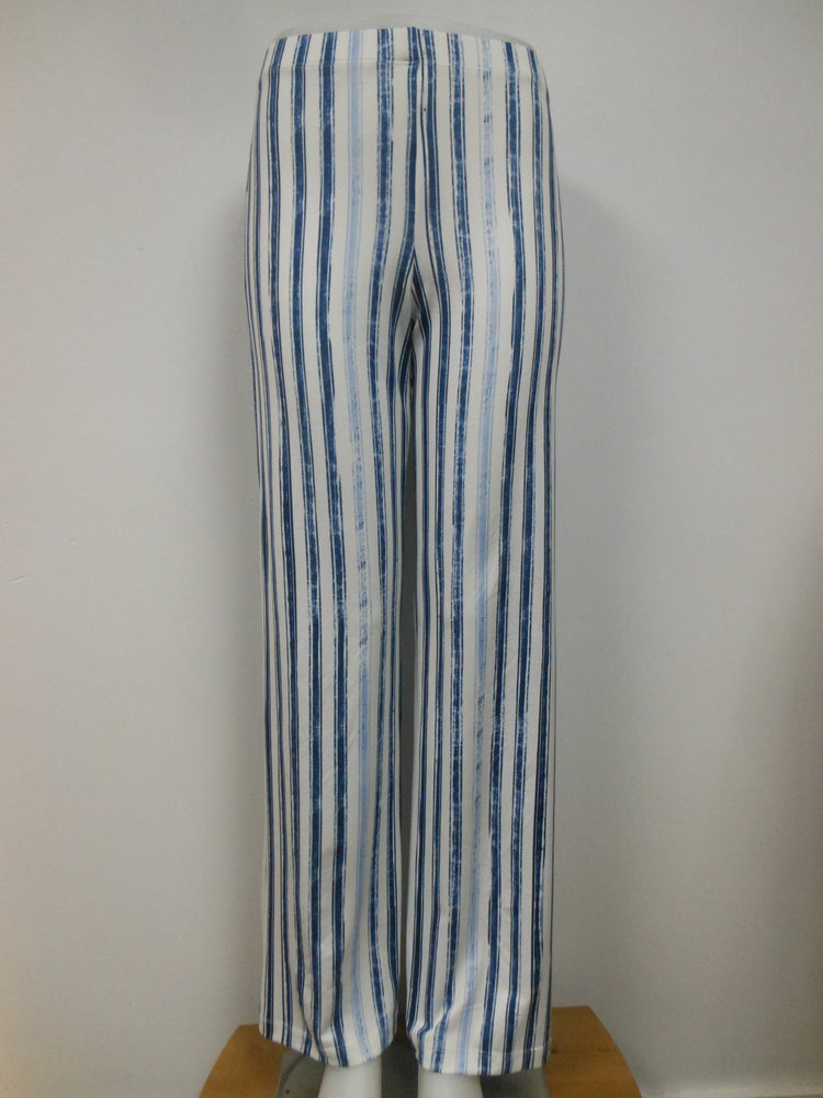 Off White Denim Striped Pant