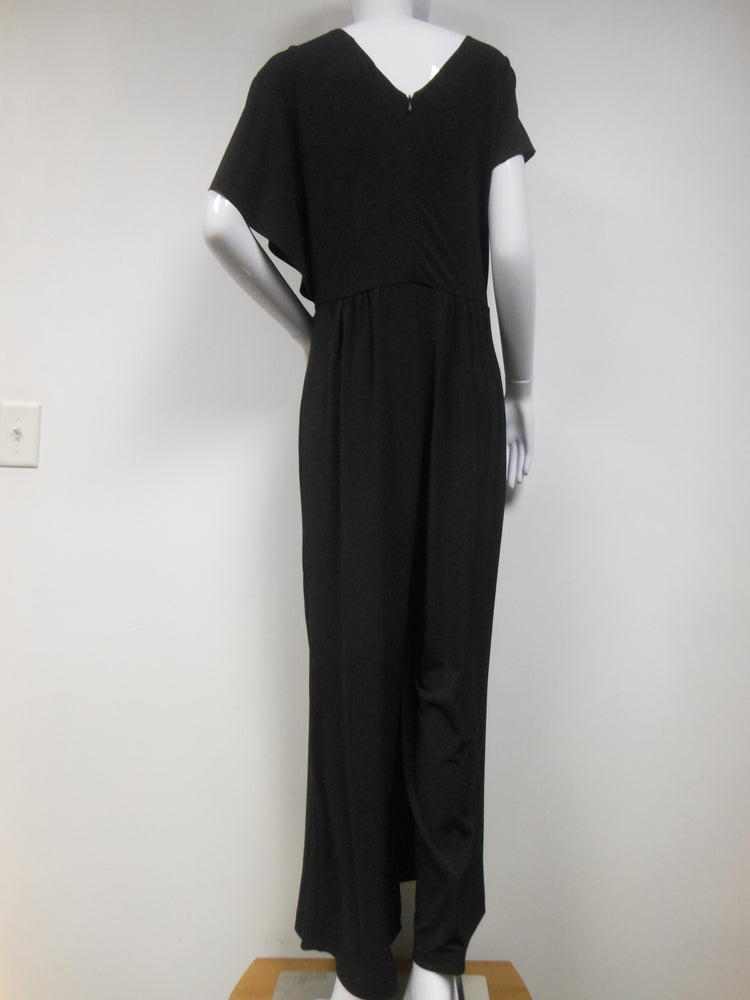Pretty Woman Black Layered Jumpsuit with Pockets
