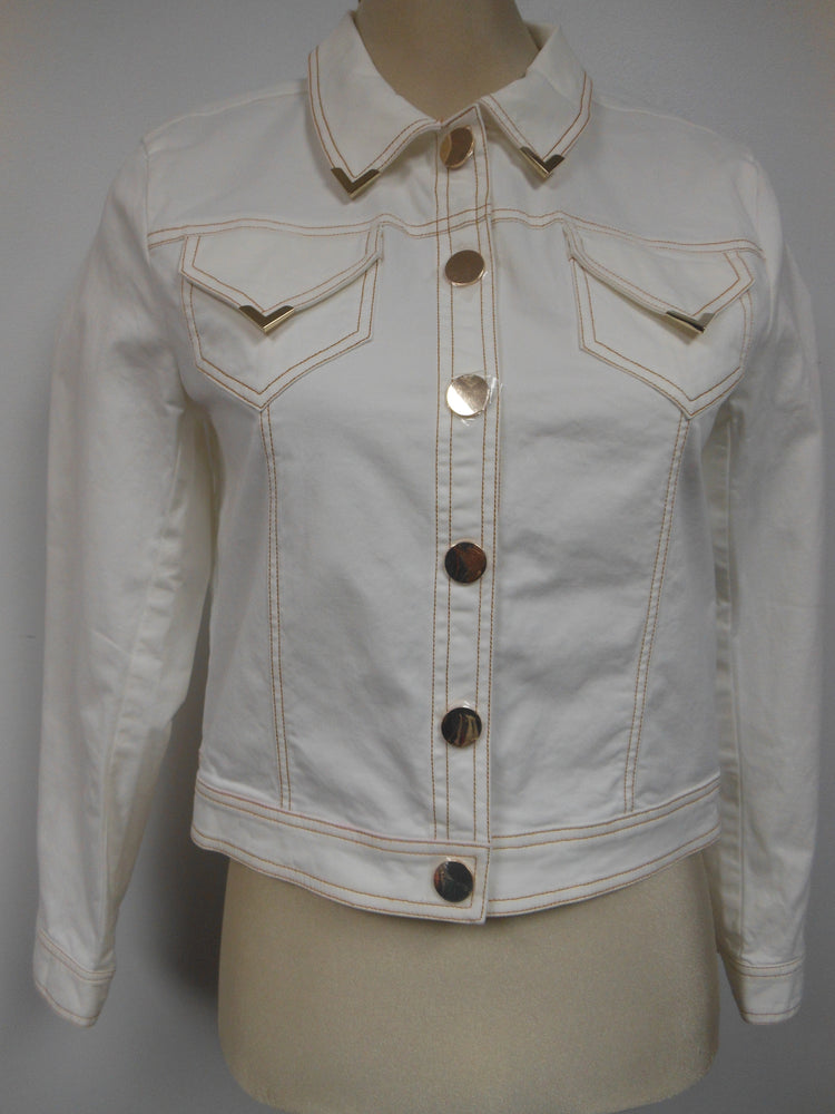 Cotton Cream White Jean Jacket