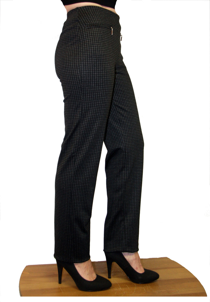 MODE DE VIE PULL UP PANT, HOUNDSTOOTH