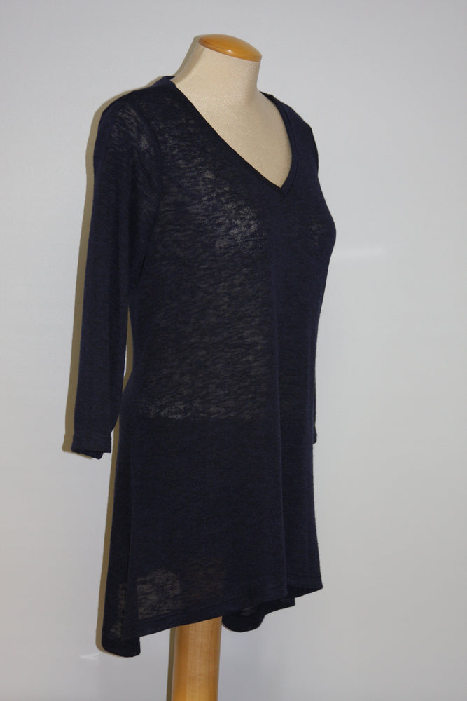 Pretty Woman V-Neck Tunic, Black