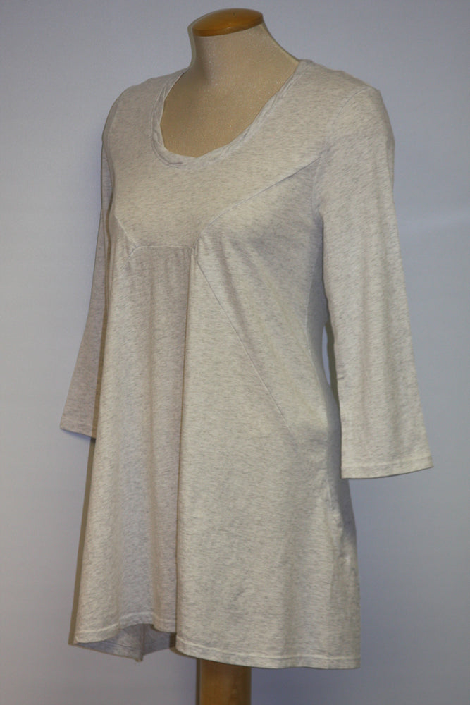 Cotton Blend Light Grey T-shirt