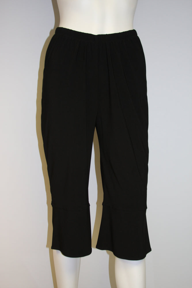 Pretty Woman Wide Leg Capri, Black