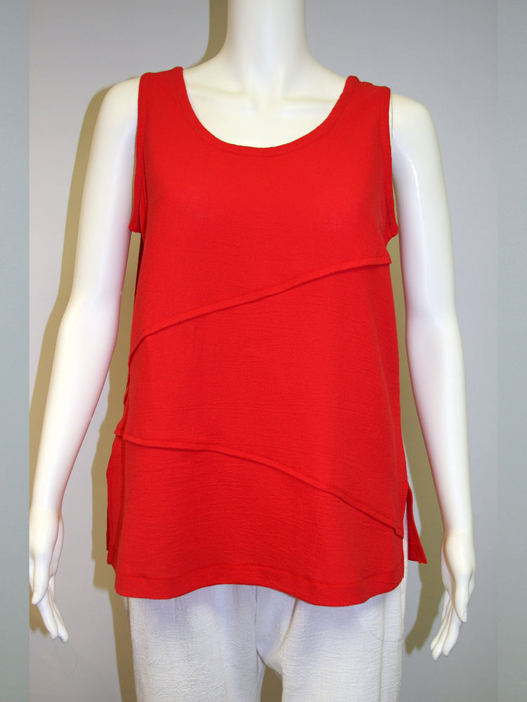 Pretty Woman Cotton Tank, Red