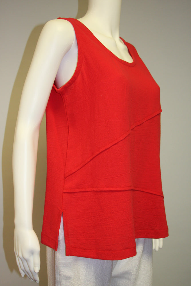 Pretty Woman Cotton Tank, Red   Only size S left