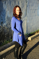 Pretty Woman Tunic, Periwinkle