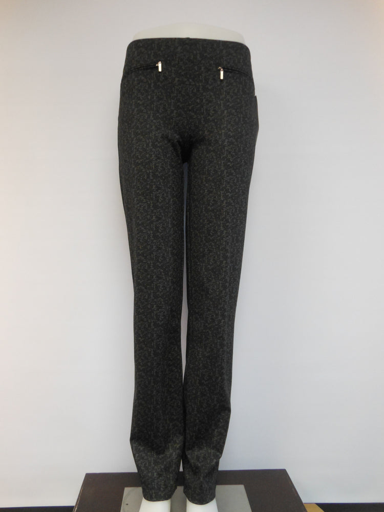 Mode de vie Pull-up Pant, Black Grey Petite