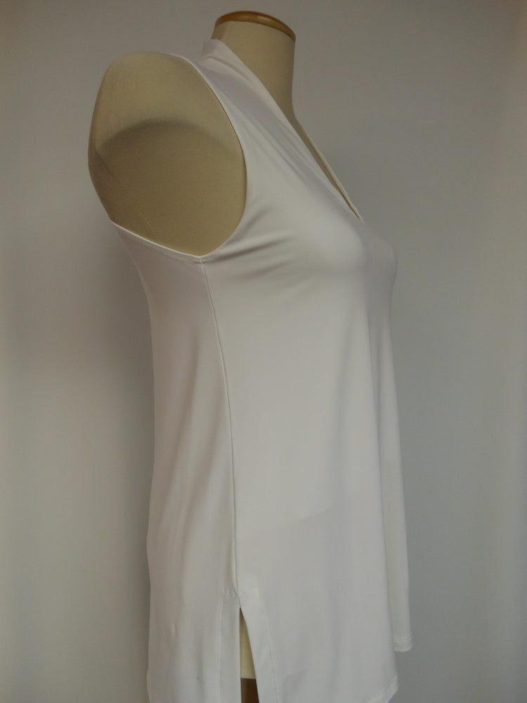 Pretty Woman V-Neck Tank,Off- White