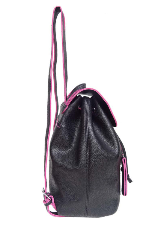 Black Packpack with Hot Pink Contrast Piping
